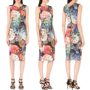 Ted Baker Mayzi Technicolour Bloom Dress - NWT